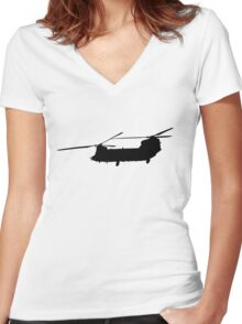 Chinook Solo Women's Fitted V-Neck T-Shirt