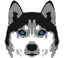 Husky Face Blue Eyes by Style-O-Mat
