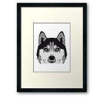 Husky Face Framed Print