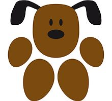 Funny Dog Paw Footprint Logo by Style-O-Mat