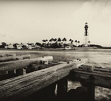 Antique Lighthouse by PeaceInArt