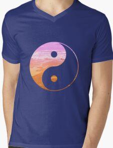 Yin & Yang (pink sky) Mens V-Neck T-Shirt