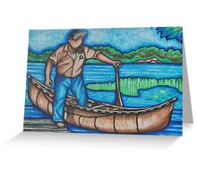 Dan Sarazin Algonquin Canoe Greeting Card