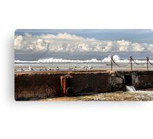 The Canoe Pool - Newcastle Beach NSW Australia Canvas Print