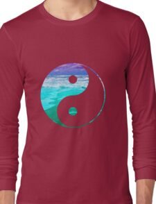 Yin & Yang (Aqua Water) Long Sleeve T-Shirt