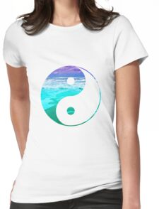 Yin & Yang (Aqua Water) Womens Fitted T-Shirt