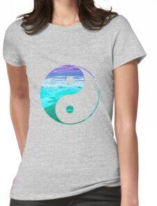 Yin & Yang (Aqua Water) Womens Fitted T-Shirt