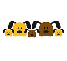 Funny Dog Family 3 Kids by Style-O-Mat