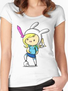 Chibi Fionna from Adventure Time Women's Fitted Scoop T-Shirt