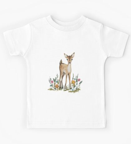 Deer in the flowers Kids Tee