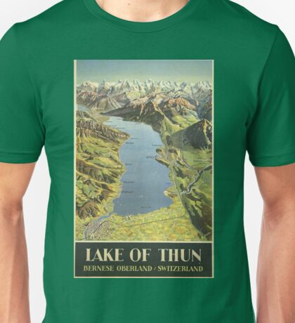 Vintage poster - Lake of Thun Unisex T-Shirt