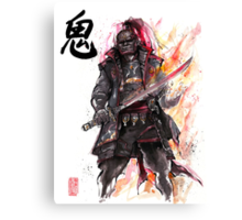 Ganondorf from Zelda game series with Japanese Calligraphy Canvas Print