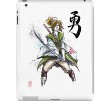 Link from Zelda Sumie style calligraphy COURAGE iPad Case/Skin
