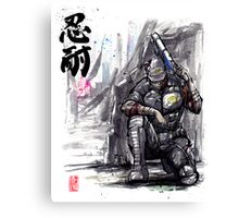 Admiral Anderson from Mass Effect with Japanese Calligraphy Canvas Print