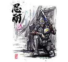 Admiral Anderson from Mass Effect with Japanese Calligraphy Photographic Print