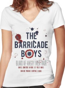 The Barricade Boys World Tour Women's Fitted V-Neck T-Shirt