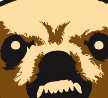 Angry Chihuahua Face Sticker
