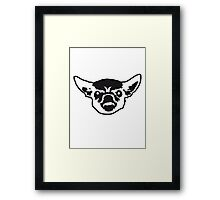 Angry Chihuahua Face Framed Print