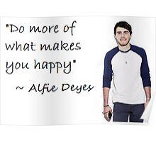 Alfie Deyes - HAPPY Poster