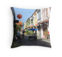 Rush Hour in Phuket Town Throw Pillow