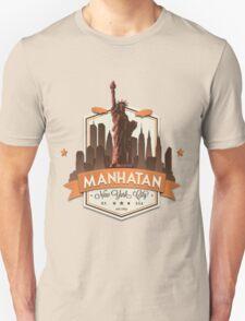 Manhatan Retro-style Badge (Inspired by Fringe) T-Shirt