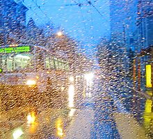 Fillmore Bus in the Rain by David Denny