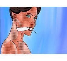 Irene Adler (BBC Sherlock) Pop Comic Art Photographic Print