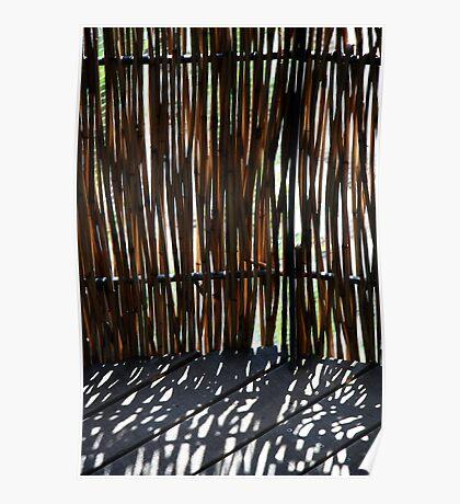 Bamboo screen Poster