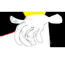 Body parts: Hand Study -(080214)- Digital artwork/MS Paint Photographic Print
