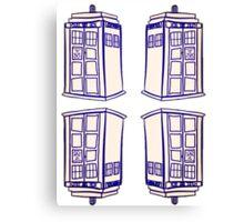 Mirrored Tardis | Doctor Who Canvas Print