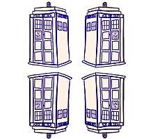 Mirrored Tardis | Doctor Who Photographic Print