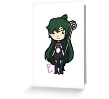 Sailor Pluto Chibi Greeting Card