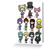Sailor Scouts All 2 Greeting Card