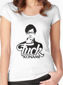 Hideo Kojima F*CK KONAMI Women's Fitted Scoop T-Shirt