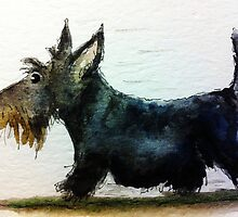 Archy the Scottie Dog on the Move by archyscottie