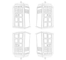 Inverted Mirrored Tardis | Doctor Who Photographic Print