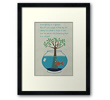 Einstein Quote for Kid's Room Framed Print