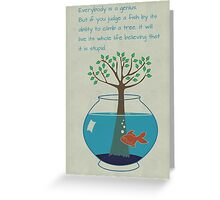 Einstein Quote for Kid's Room Greeting Card