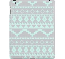 Mint & Gray textured geometric pattern iPad Case/Skin