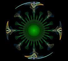 Peacock Mandala by Anne Pearson