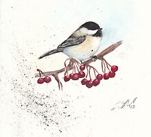 Waiting for my Chickadee by Morgan Campbell