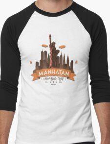 Manhatan Retro-style Design (Inspired by Fringe) Men's Baseball ¾ T-Shirt