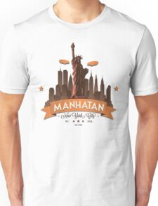 Manhatan Retro-style Design (Inspired by Fringe) Unisex T-Shirt