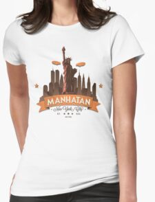 Manhatan Retro-style Design (Inspired by Fringe) Womens Fitted T-Shirt