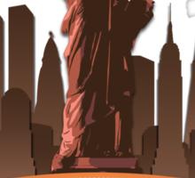 Manhatan Retro-style Design (Inspired by Fringe) Sticker