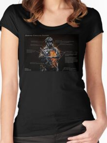 Onward Christian Soldier Women's Fitted Scoop T-Shirt