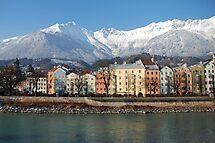 Innsbruck in wintry sunlight by Arie Koene