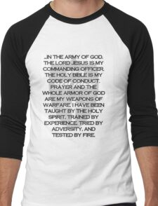 Army of God Men's Baseball ¾ T-Shirt
