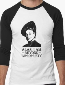 Alas, I am Beyond Impropriety Men's Baseball ¾ T-Shirt