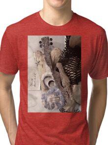 Uke Art Seascape Sculpture Tri-blend T-Shirt
